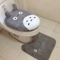 Da DHL o EMS 20 set Super soft Shu velluto ispessimento wc set vasino coprivaso Totoro Vicino Sgabello Cuscino Stuoia