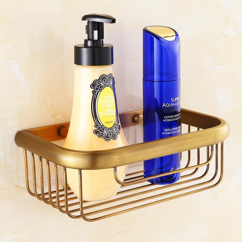 Multifunctional Bathroom Towel Box Cosmetic Shelf Antique Brass Brushed Storage Holder Hanging Basket Box Bathroom Accessor iu10