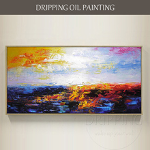 Artist Handmade Wall Art Abstract Oil Painting on Canvas Pure Hand-painted Colorful Landscape Decoration
