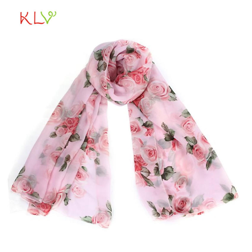 Women Scarves Rose Womens Long Stole Pink Scarves Shawl 17Oct9