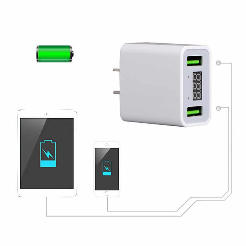 Universal Digital Display USB Charger Cepat 3.0 5 V 3A untuk iPhone Uni Eropa US Plug Ponsel Ponsel Cepat Pengisian untuk Huawei