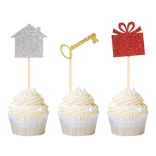 12pcs Home Sweet Cupcake Toppers New House Gift Housewarming Party Cake Decoration Family Supplies Welcome