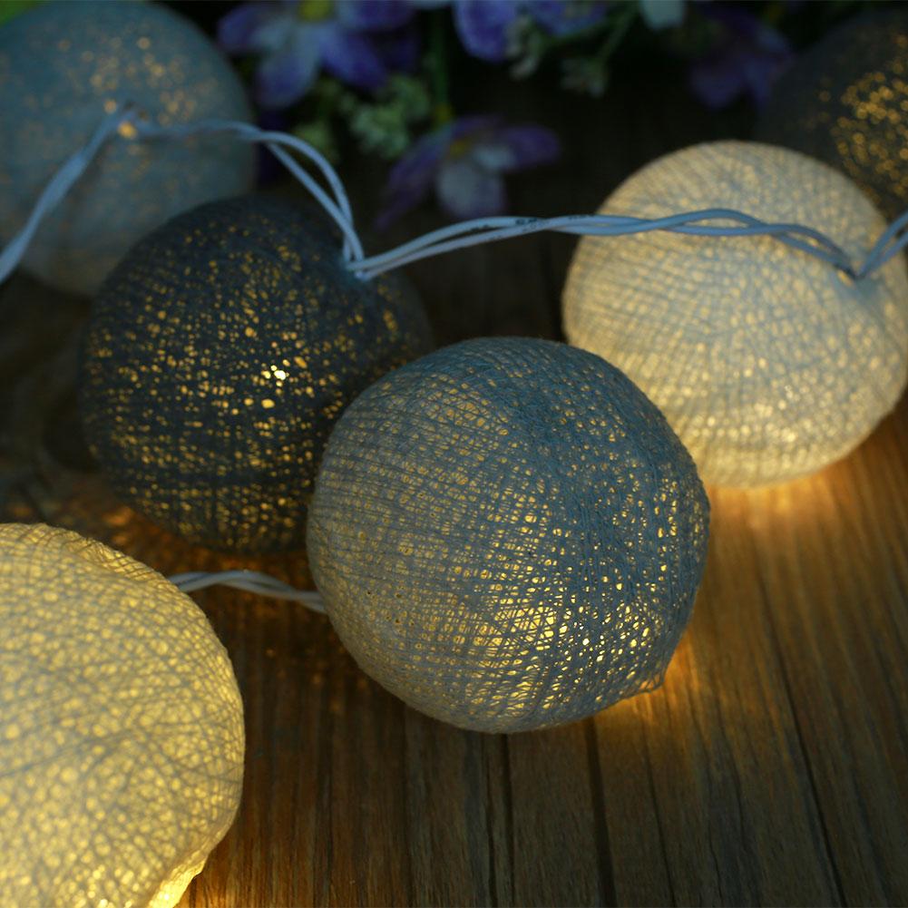 Aladin 10 LED Cotton Ball Romantic Gorgeous Fairy String Light Lantern Party Wedding Decor Decoration handmade cotton lace parasol umbrella and hand fan party wedding decor