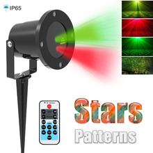 christmas laser projector Outdoor Garden Star light IP65 Waterproof IR Remote Control Show Red Green Laser Lights RG Decorations