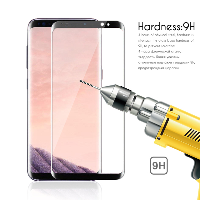 3D Original NFH Sensitive Reaction Tempered Glass For Samsung Galaxy S8 S8 Plus Screen Protective Protection Film Case On S 8 4