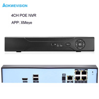 New Arrival XMeye Onvif 4ch 1080P 48v POE NVR Network Video Recorder Support Onvif