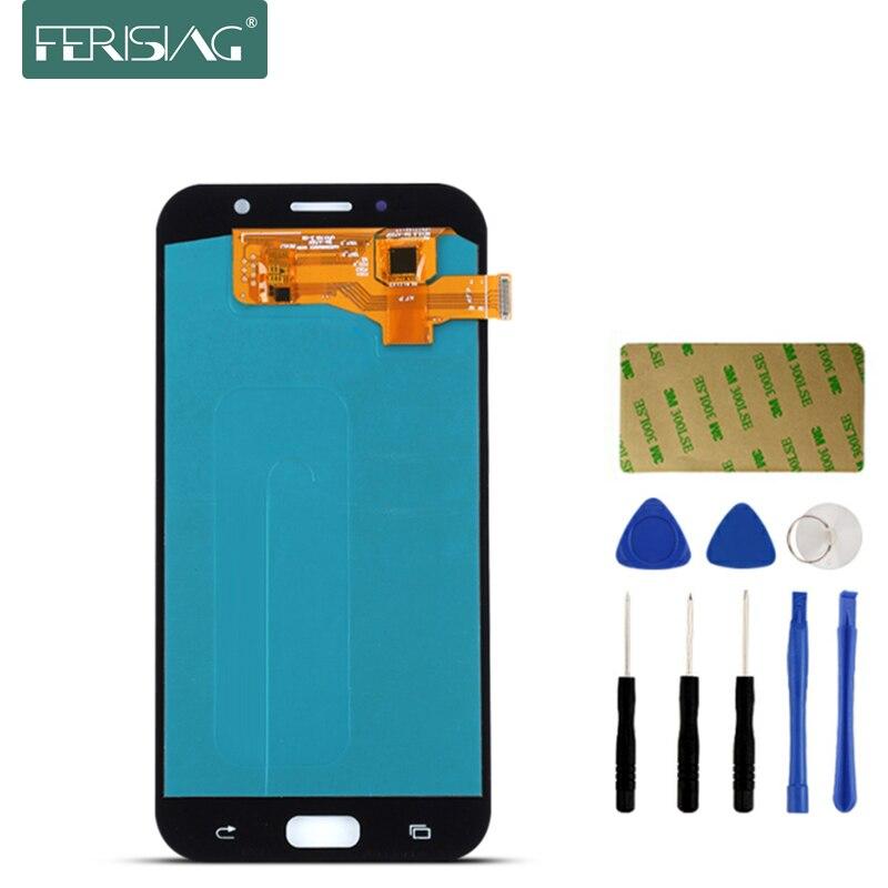 AAAA + Pour Samsung Galaxy A7 2017 A720 A720F SM-A720F écran LCD numériseur à écran tactile Replacment téléphone portable LCD + Outils Kit