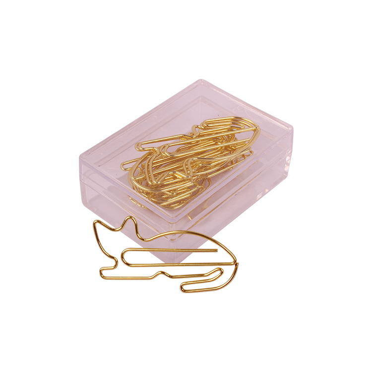 Golden Cat Customized Cartoon Cute Animals Office Accessories Paper Clips Bookmark Office Clip Paperclips Metal Paper Clips Gold