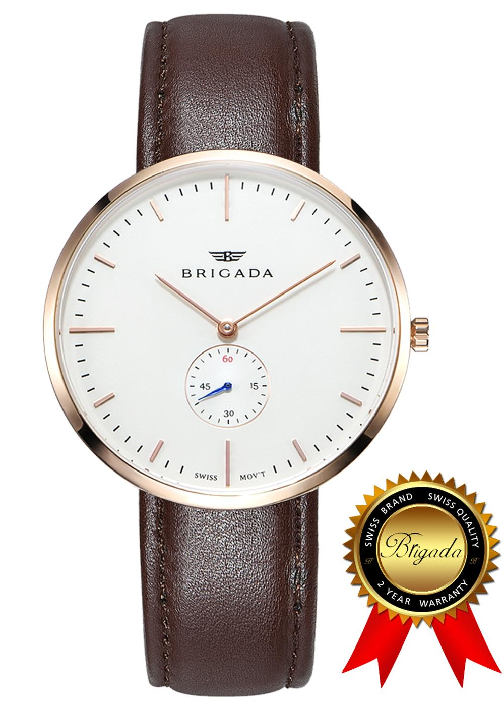 BRIGADA Swiss watches for Men Women, Movement Fashion Beautiful Minimalist Quartz Men's Women's Watches