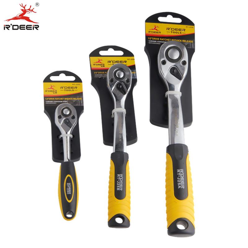RDEER Ratchet Wrench 1/2 3/8 1/4 Universal Key 72 Teeth Auto Wrench Torque Repair Hand Tools 1PC xkai 14pcs 6 19mm ratchet spanner combination wrench a set of keys ratchet skate tool ratchet handle chrome vanadium