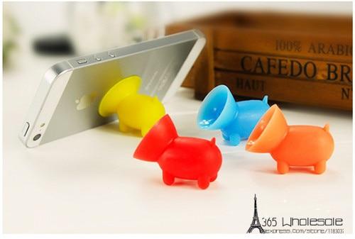 Cute pig Silicone phone rack holder 50pcs - 4