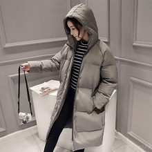 Woman Winter Warm Cloak Windcheater Hooded Cheap Long B Jacket Thick Maxi Coat Palto Parka Large Size Korean Overcoat Manteau