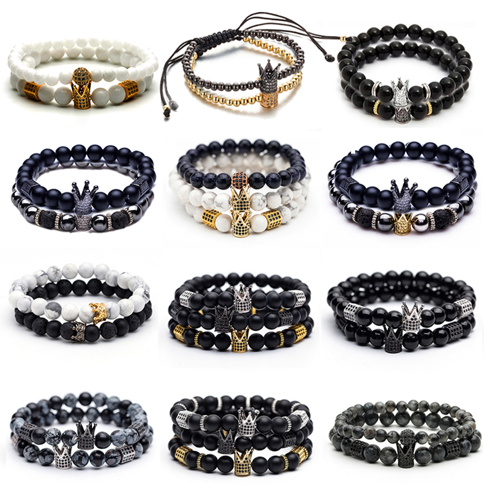 New Mode Collier Homme//Femme Style SHAMBALLA Perles HEMATITE couleur argent