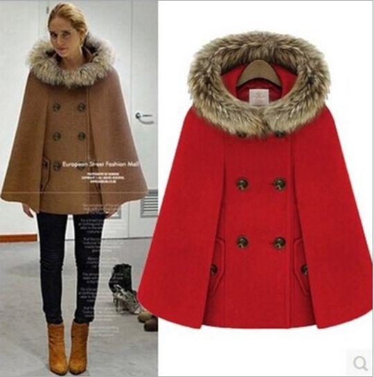 Popular Wool Cape Jacket-Buy Cheap Wool Cape Jacket lots from