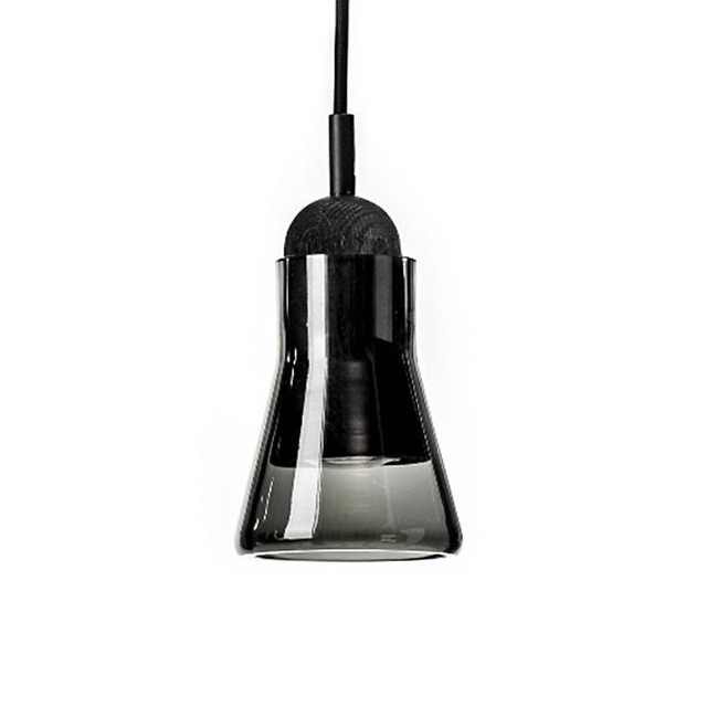 Shadow Mini Pendant Lights Gray Smoke Cone Glass Lamp For Office Bedroom Lighting Fixtures Suspension