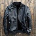 2015 nueva piel de piel de oveja de cuero de hombre hombres de la chaqueta de piel 8166