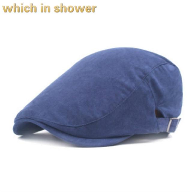 Que no chuveiro sólida veludo cotelê boina chapéu para mulheres homens em  branco tampa plana ajustável 0e59c57fc53