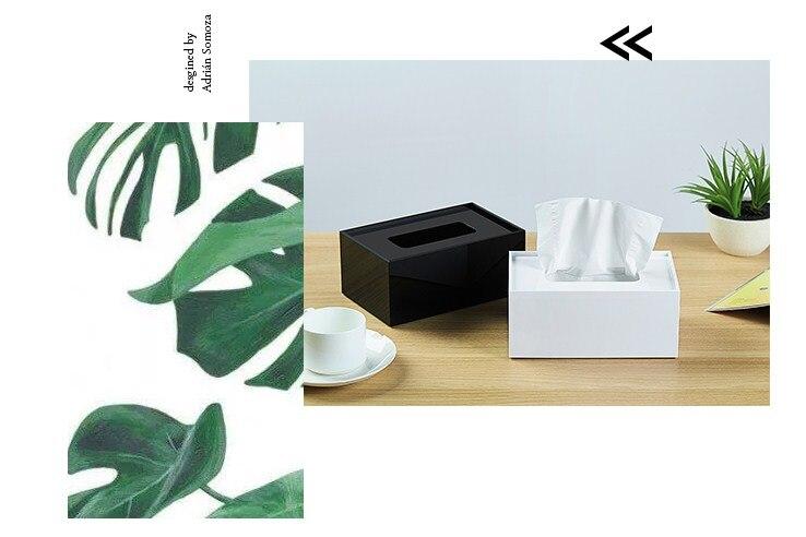 Простая прямоугольная акриловая коробка для салфеток для офиса отеля KTV настольная бумажная коробка для хранения полотенец декоративная коробка