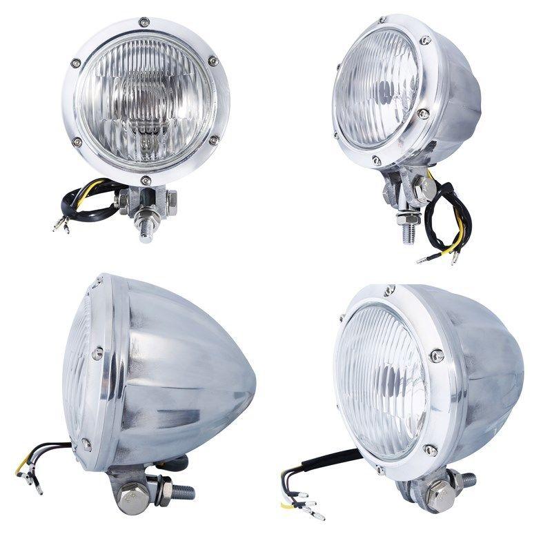 Motorcycle Motorbike Universal Headlight Light Head Lamp Bullet For Harley Bobber Cafe racer Chopper Cruiser