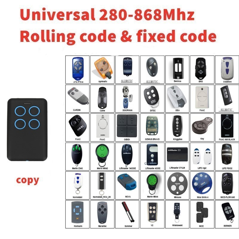 Auto scan frequency Universal remote control duplicator Multi frequency copy 280-868mhz Auto scan frequency Universal remote control duplicator Multi frequency copy 280-868mhz