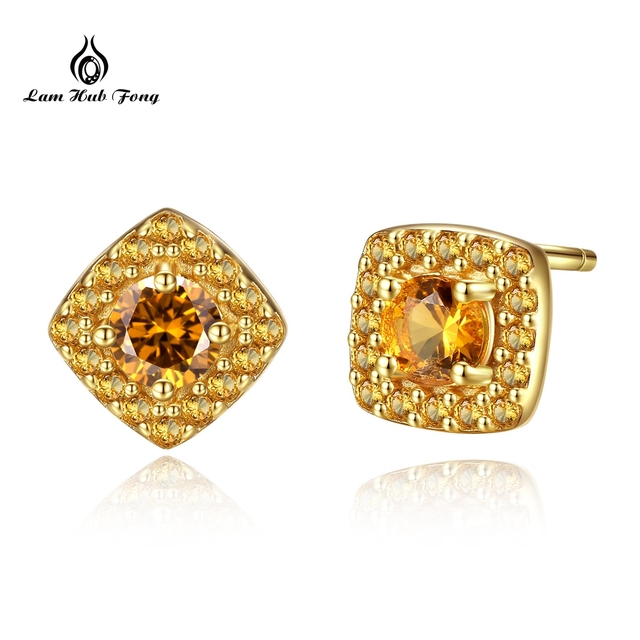 925 Sterling silver Citrine Birthstone Earrings 100% Natural Citrine Earrings For Women Fine Jewelry Gift