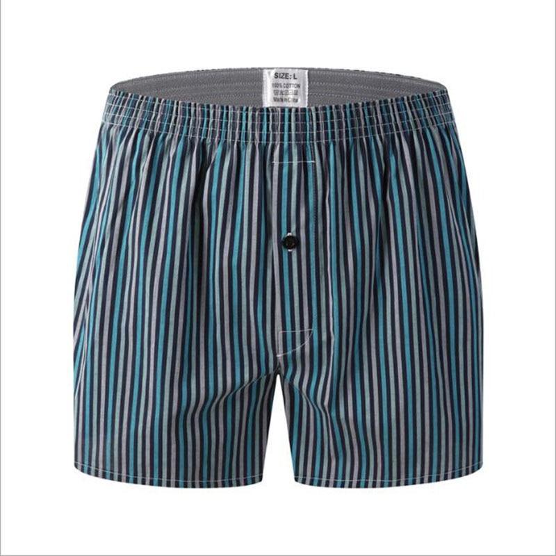 Men Underwear Boxers Striped Loose Shorts Men Panties Cotton The Large Arrow Pants Plus Size Classic Basics Wear At Home
