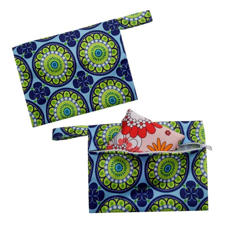 Ohbabyka 6pcs Menstrual Pads Washable Sanitary Pads Bamboo Cloth Pads Reusable Waterproof Panty Liners and 1pc Mini Wet Bag 5