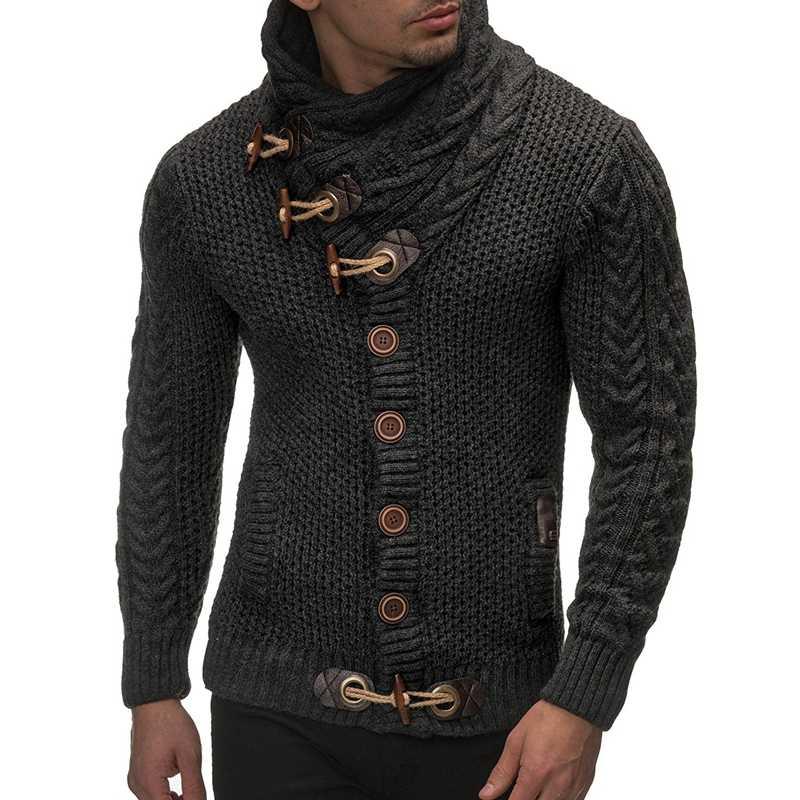 2019 가을 겨울 패션 캐주얼 가디건 스웨터 코트 남자 느슨한 적합 100% Terylene 따뜻한 뜨개질 옷 스웨터 코트 남자 4xl