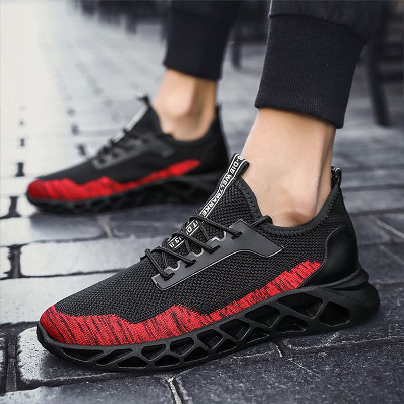 Cheap Running Shoes For Men Air Cushion Mesh Breathable Wear resistant Hot 2019 Fitness Trainer Sport Shoes Men Sneakers in Running Shoes from Sports Entertainment