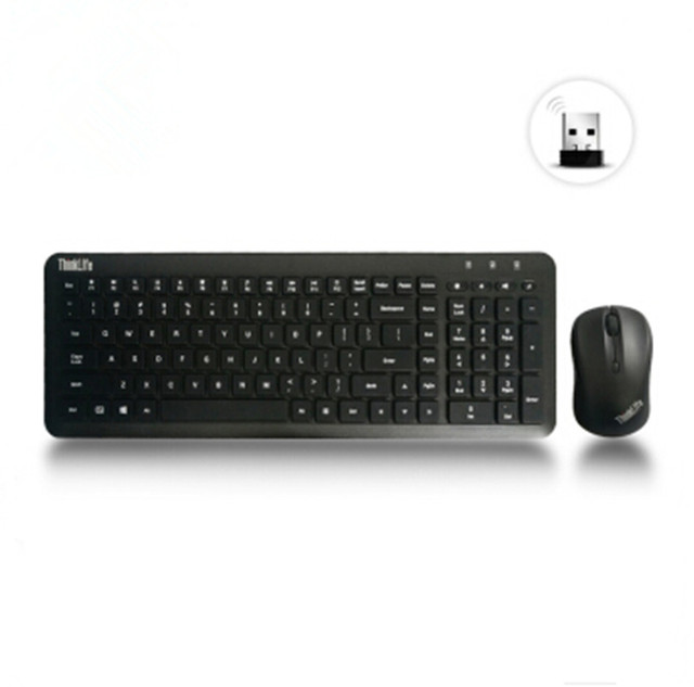 free shipping lenovo thinkpad thinklife mute button mouse suit usb wireless keyboard mouse. Black Bedroom Furniture Sets. Home Design Ideas