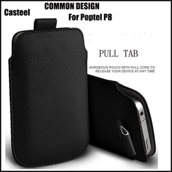 На Алиэкспресс купить чехол для смартфона casteel pu leather case for poptel p8 pull tab sleeve pouch bag case cover