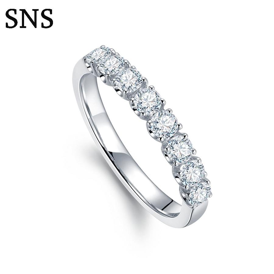 0.45 cttw diamant naturel bande de mariage pour les femmes 14 K solide or blanc bague de fiançailles de mariage bijoux en diamant
