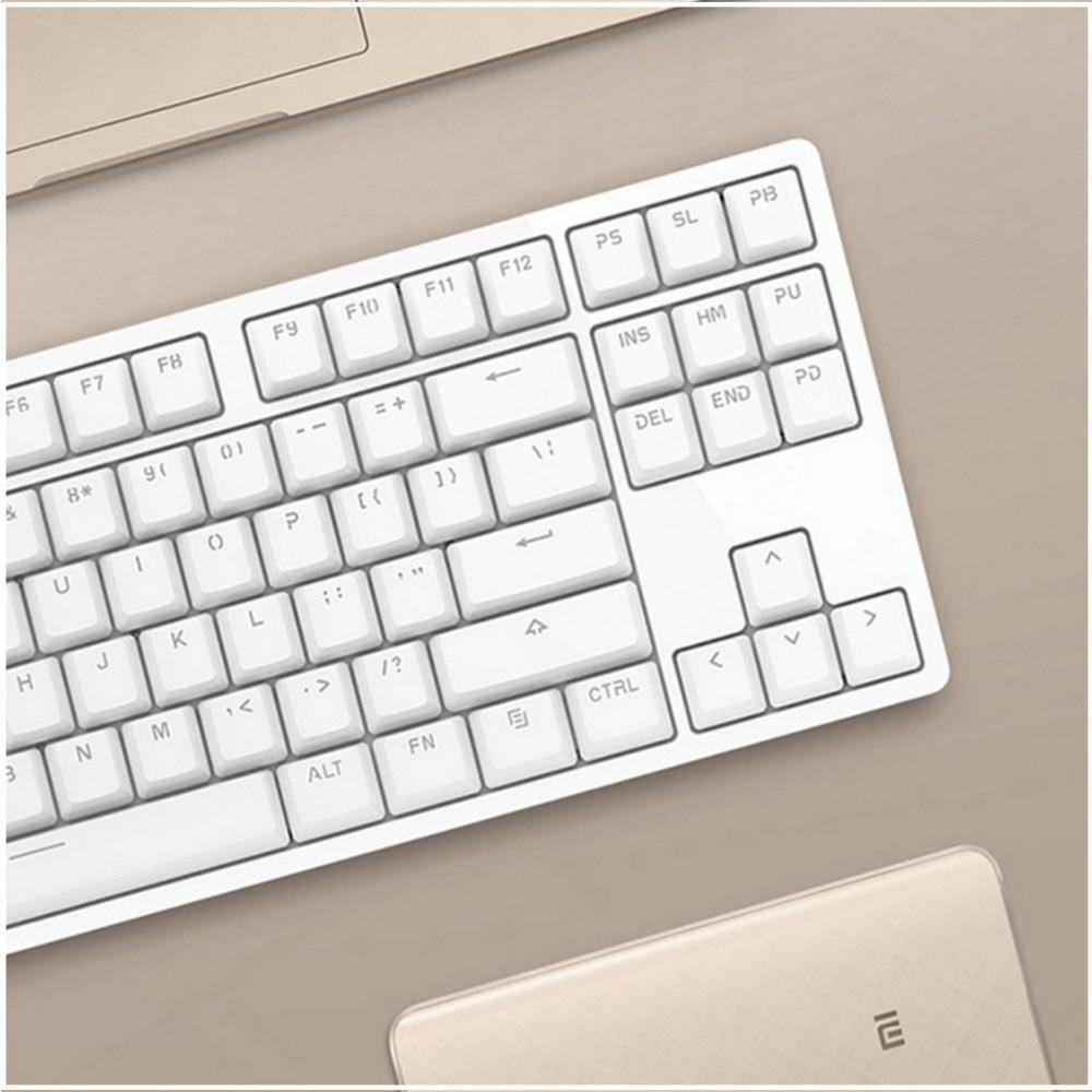 font b Xiaomi b font YueMi Mechanical Keyboard White Red Axis 87keys For font b
