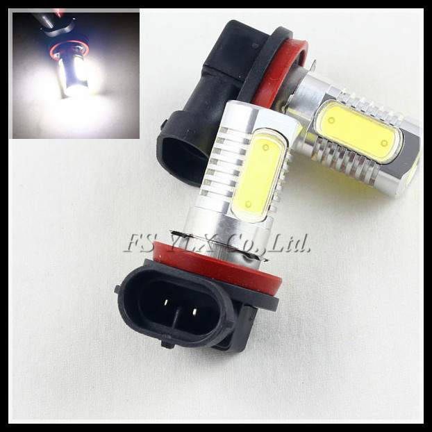 7.5W H11 LED fog light bulb H8 H11 LED turn signal parking light lamps Car H8 H9 H11 COB LED daytime running DRL light bulb 2x led h11 h8 h9 h11 no error decoder 80w with cree chip car bulb light fog lamps drl headlights for bmw 3 e90 e92 x5 2002 2010