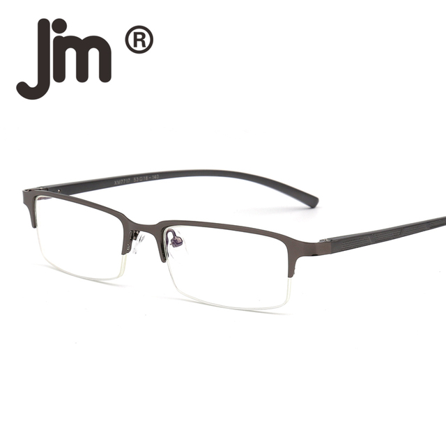 59e0a60ba4 JM Computer Reading Glasses Anti Block Blue Light Spring Hinge Half Frame  Metal Gaming Eyeglasses Reduce Digital Eye Strain