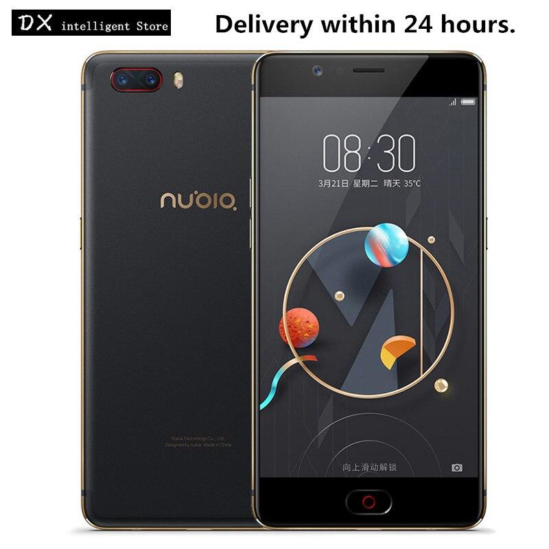 ZTE Nubia M2 NX551J 5.5 polegada FHD 4 gb + 64 gb MSM8953 16MP + 13MP Snapdragon 625 Núcleo octa dual Cams Traseira OTG SmartPhone Da Impressão Digital