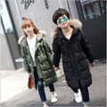 90% white duck down girls outerwear long winter coat girl down jacket boys duck down children 12 years old parka fille fourrure