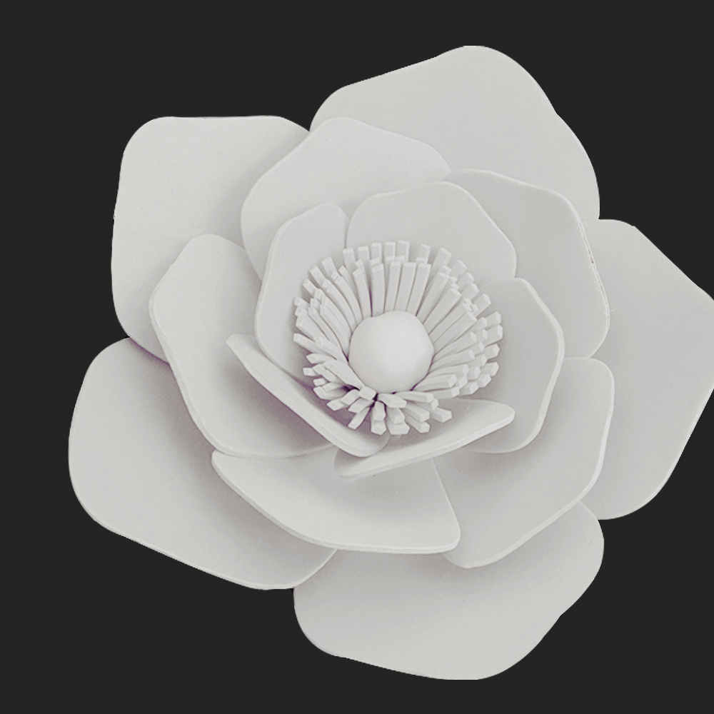 DIY Kits Half Made White Giant Foam Flowers For Party Wedding Decor ...