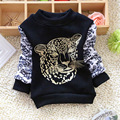 2016 Autumn and winter boys bottoming t shirts  kids animal print sweater Long Sleeve T-Shirts Tee Shirts tiger print