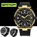 2016 Nueva Marca de Moda de Lujo Relojes Hombres Estilo Militar Impermeable Reloj Digital de Choque Deportes de Los Hombres LED Analógico Digital-reloj