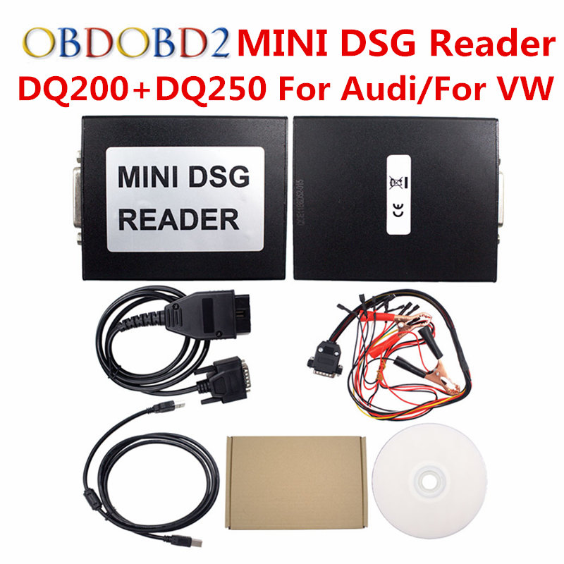 MINI DSG Reader (DQ200+DQ250) For VW For AUDI New Release DSG Gearbox Data Reading/ Writing Tool OBD2 Car Diagnostic Tool 2016 hot sale free super performance 2015 professional mini dsg reader dq200 dq250 for new release dsg