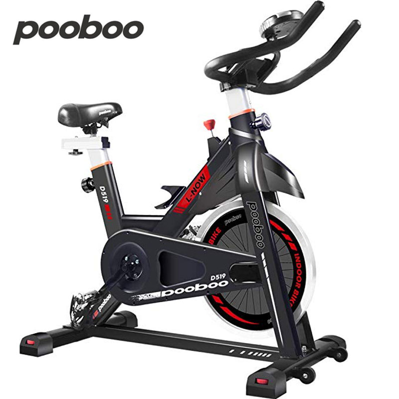 Pooboo <font><b>Indoor</b></font> Heimtrainer 24 £ Schwungrad Stationären Fahrrad LCD Display Herz Pulse <font><b>Trainer</b></font> <font><b>Bike</b></font> image