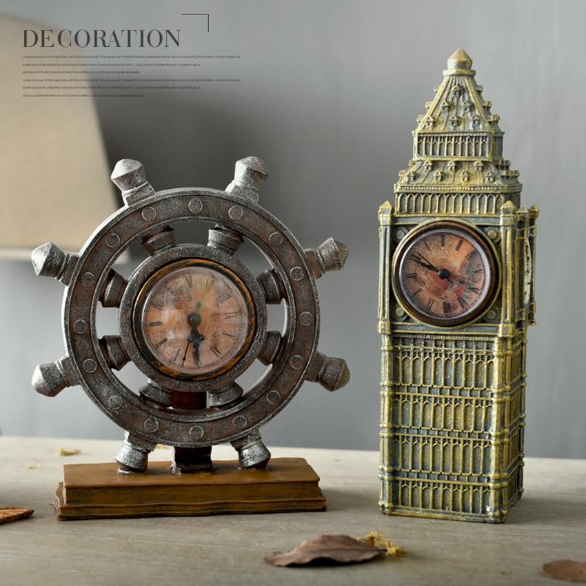 European Creative Retro Resin Decoration Old Furniture Mini Buildings  Crafts Big Ben Figurines U0026 Miniatures Gift Home Decoration In Figurines U0026  Miniatures ...