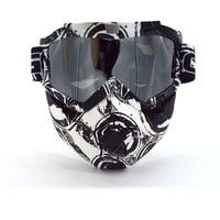 Высокое качество модульная маска очки Очки рот фильтр против пыли песок ветер для открытого Уход за кожей лица мотоцикл половина шлем или В...