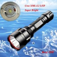 2016 New CREE XML L2 10W Super Bright Led Flashlight Torch Free Shipping