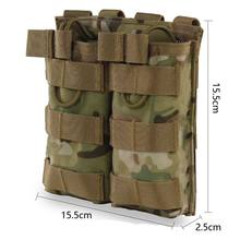 Taktis MOLLE Ganda Open Top Mag Pouch M4/M16 Magazine Pouch Luar Airsoft Militer Paintball Aksesoris Luar(China)