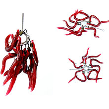 20Pcs/lot 3.6cm Soft Lure Red Worms EarthWorm Fishing Baits Worms Trout Fishing Lures fishing tackle fishing spoon jigs FA-304