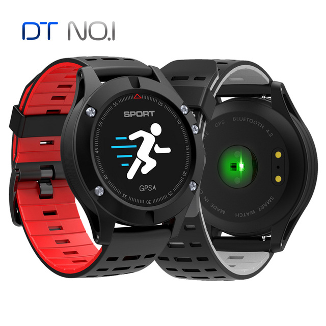 100% Original No.1 F5 GPS Smart watch Altimeter Barometer Thermometer Bluetooth 4.2 Smartwatch Wearable devices for iOS Android