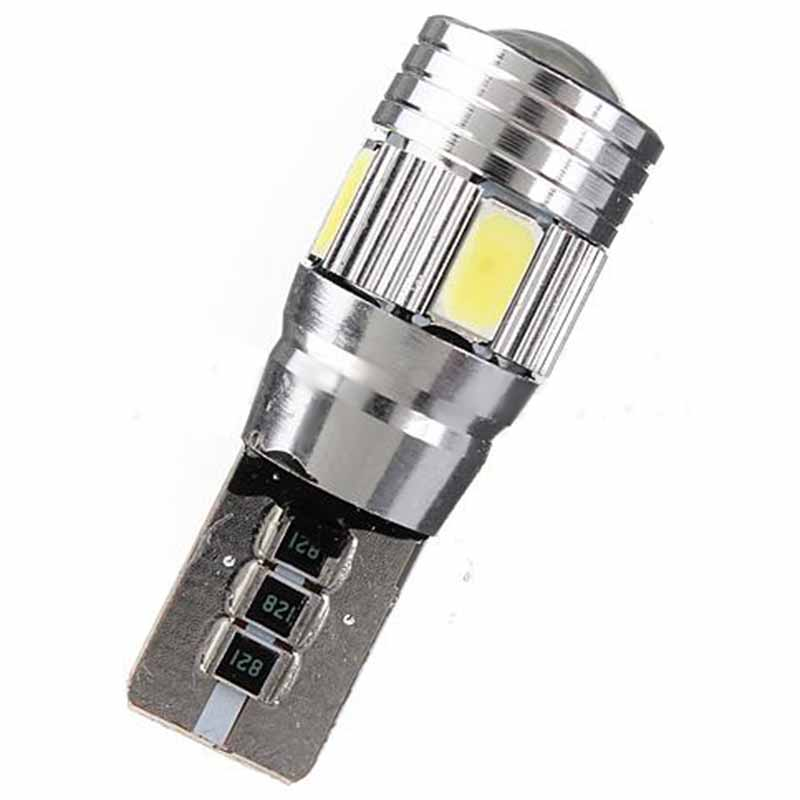 Mayitr 10pcs T10 Led Light Bulb 5630 6 SMD LED Canbus Error Free Car Wedge Light Bulb Super Bright White Lamp