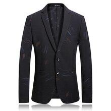 2019 новый осенне-зимний бутик мужской повседневной печати большого размера пиджак мужской классичес Лучший!